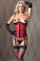 Bustier Red And Black Small CQ1058SM