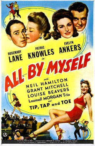 All By Myself Us Poster Top From Left: Patric Knowles Rosemary Lane Evelyn Ankers Neil Hamilton 1943 Movie Poster Masterprint