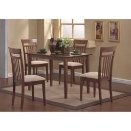 Offex OFX-284151-MO Walnut 5 Piece Casual Dining Set
