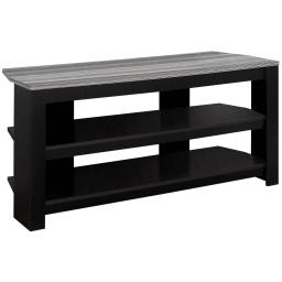"Offex OFX-504232-MO Entertainment Room TV Stand, 42""L/Black/Grey Top Corner"