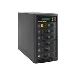 Aleratec Direct V2 1:5 HDD Copy Cruiser High-Speed Hard Disk Drive Duplicator 350125 - Black
