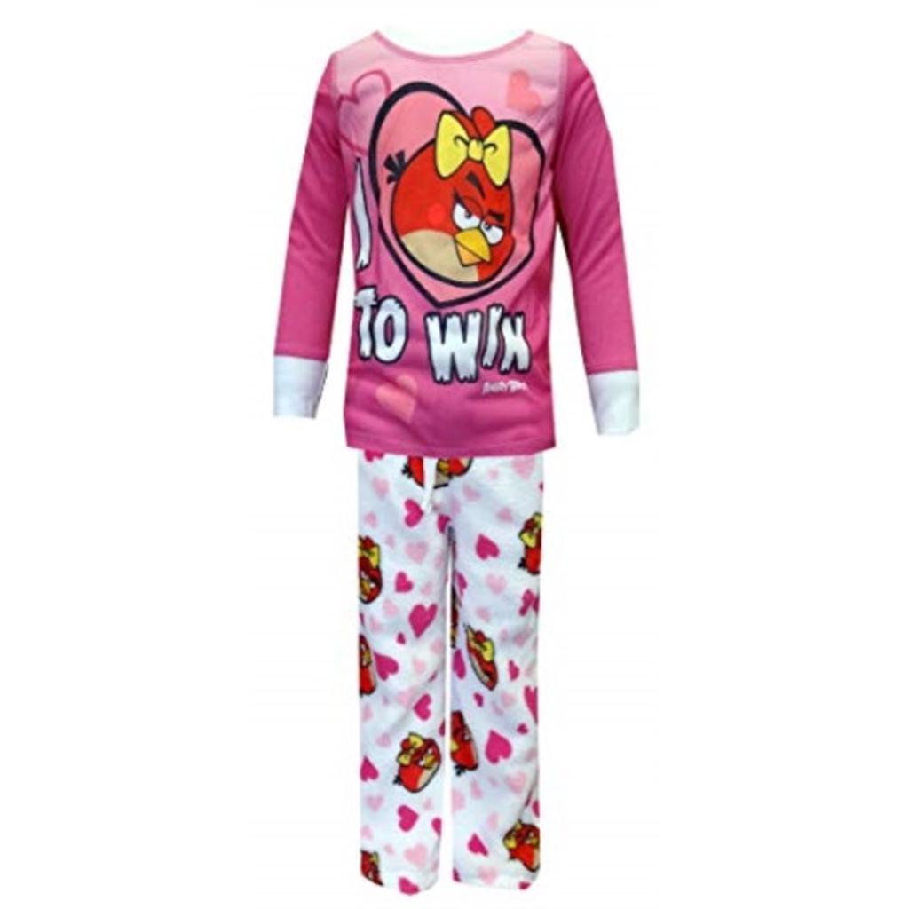 AME Sleepwear Little Girls' I Love Angry Birds Pajama Set, Multi, 6