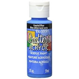 DecoArt Crafter's Acrylic Paint, 2-Ounce, Coastal Blue