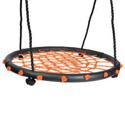 Children's Web Swing Playground Platform net Swing orange color Nylon Rope with EVA padded steel 60cm/24inch Diameter