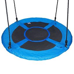 100cm/40 Disc Giant Nest Web Rope Hanging Tree Swing Seat Set Heavy Duty Easy to Set Up for Kids Children Adult Outdoor Backyard Garden Large Size