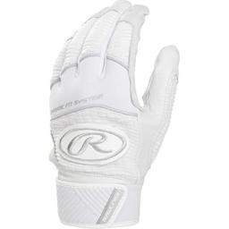 Rawlings WH950BG-W-89 Workhorse Batting Gloves, White