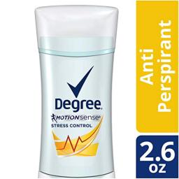 Degree Deodorant Women's Motion Sense Stress Control, 2.6 Ounce