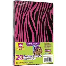 Creative Hands 3138259E 20-Piece Foam Sheets for Arts and Crafts