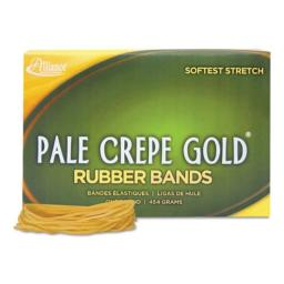Pale Crepe Gold Rubber Bands, Size 19, 3-1/2 x 1/16, 1lb Box, Sold as 1 Pound