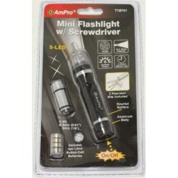 Ampro T19741 5 LED Flashlight with Precision Screwdriver