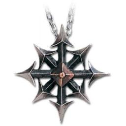 Alchemy Gothic Chaos star pendant by of England, Silver