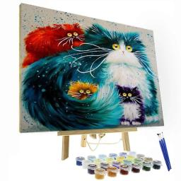 Cats Bewildered Paint By Number Painting Set