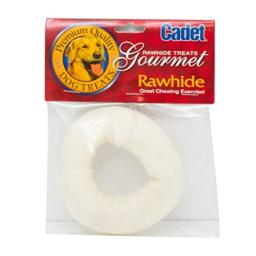 Cadet Gourmet Premium Quality Natural Rawhide Donut Dog Chew, 3-4 Inches
