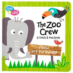 C.R. Gibson Zoo Animals Board Book for Children, 7 x 7 x 0.8 inches, 1 Piece
