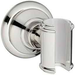 AXOR 16325830 Montreux Wall-Mounted Hand Shower Holder, Polished Nickel
