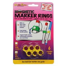 Stikkiworks The Co. STK33061 Magnetic Marker Rings for Thin Barrel Markers Whiteboard Accessory