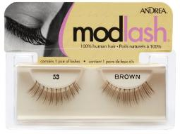 Andrea Mod Strip Lash Pair Style 53 Brown Pack of 4