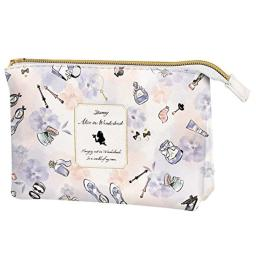 Disney Princess Alice in woderland Pencil / Cosmetic Double flat Pouch Makeup Rouge 017548