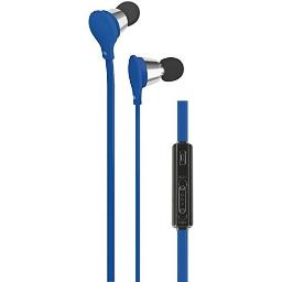 AT&T EBV01-BLU Jive Noise Isolating Earbuds with In-Line Microphone and Volume Controls, Blue