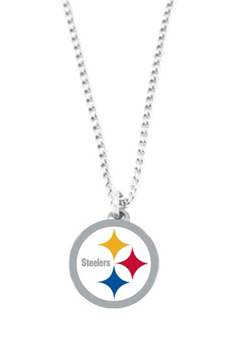 Sports Team Logo NFL Pittsburgh Steelers Logo Necklace Charm Pendant