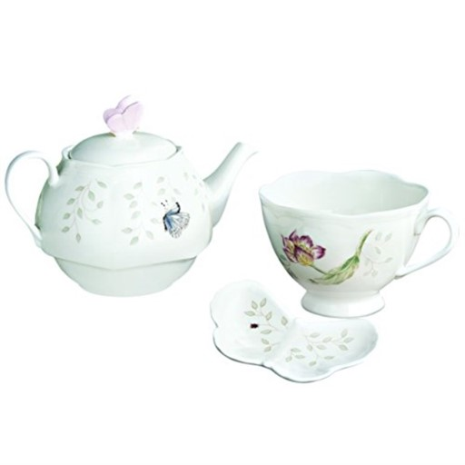 Lenox Butterfly Meadow Stackable Tea-For-One Set