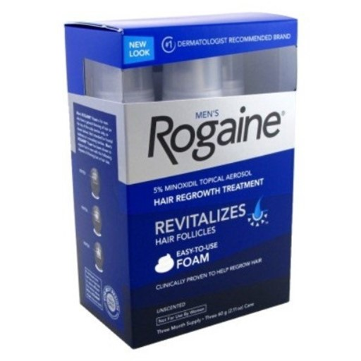 Rogaine Mens Regrowth Foam 5% Unscented 3 Month Supply