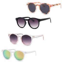 Womens Colorful Summer Classic Sunglasses (4 Pack)