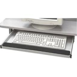 Buddy Products Keyboard Drawer with Wrist Rest, Static-Dissipating Steel, 10 x 22 Inches, Platinum (9653-32)