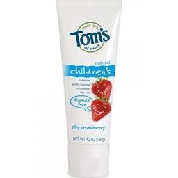 Tom's of Maine Fluoride Free Children's Toothpaste, Silly Strawberry, 4.2 Oz (Pack of 5)