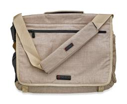 ECBC Zeus Messenger Bag Up To 15 Laptops with Luggage Handle Pass-Through - Linen