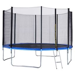 12 ft Trampoline Combo w/ Safety Enclosure Net  Spring Pad & Ladder