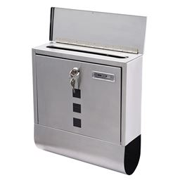 Wall Mounted Steel Mail Box with Newspaper Roll