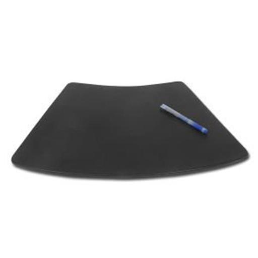 Black Leather 17x14 Conference Table Pad for Round Tables