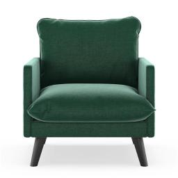NyeKoncept 50090424 Bowie Armchair Mod Velvet - Jade Green with Black Finish
