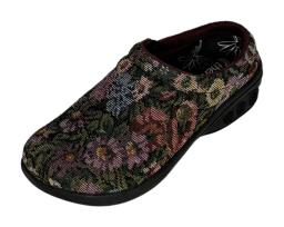 Therafit Sz 7.5 Casual Fabric Clogs Molly Floral Shoes A418349