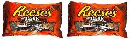 Reese's Peanut Butter Cups Miniatures Dark Chocolate 2 Bag Pack