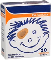 Coverlet Eye Occlusor Pads Junior 1-7/8 Inches X 2-1/2 Inches - 20 Patches, Pack Of 3