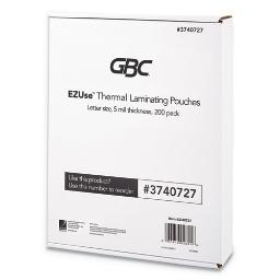 """Ezuse Thermal Laminating Pouches 5 Mil 8.5"""" X 11"""" Gloss Clear 200 Per Pack   1 Pack of: 200"""