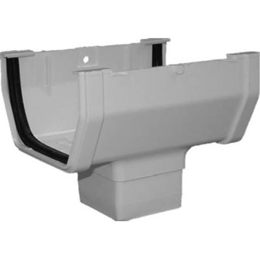 Genova Products RW104 Vinyl Gutter Drop Outlet, White