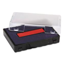T5440 Dater Replacement Ink Pad 1 1/8 X 2 Blue/Red   Total Quantity: 1