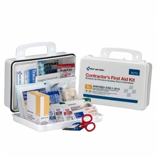 First Aid Only FAO90753 25 Person Contractor ANSI A Plus Kit with Plastic Case, Type III