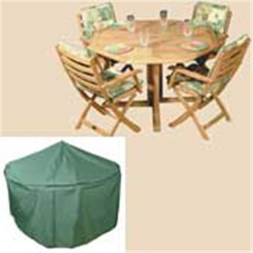 84 Inch Round Table and Chairs Polyethylene Cover