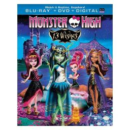 MONSTER HIGH 13 WISHES BLU RAY/DVD COMBO W/DIGITAL COPY & ULTRAVIOLET 25192197741