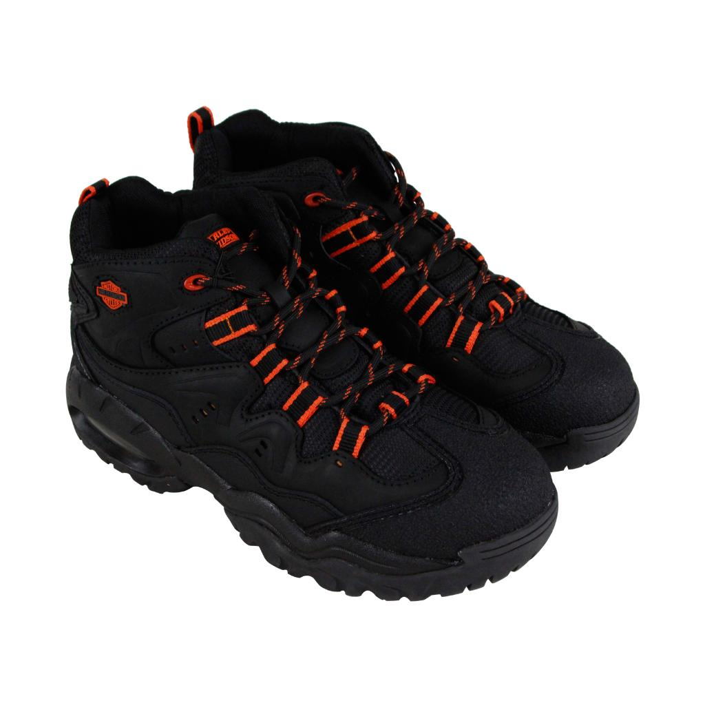 9df80607cf4 Harley-Davidson CrossRoads II Steel Toe Mens Black Hiking Boots Shoes