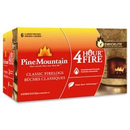 Pine Mountain 4152501401 4 Hour Burn Time Traditional Fire Log, Pack - 6