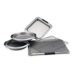 Norpro 10446 Stainless Steel Bowl Set with Lids, 3 Piece