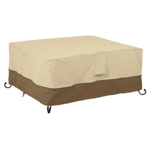 Classic Accessories 55-619-011501-00 Rectangle Fire Table Cover, Pebble