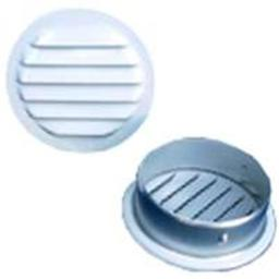Maurice Franklin RLW-1001 1 in. Round Aluminum Screen Louver, White