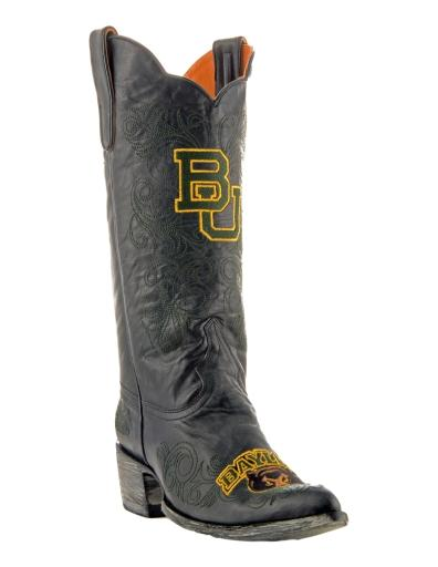 Gameday Boots Womens College Team Baylor Bears Black Gold BAY-L034-1 8VAXX71PD7MFBCTS