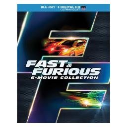 Fast & furious 6-movie collection (blu ray w/dig hd/uv/snap case/w/slipcase BR61132057